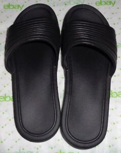 USA-WOMENS-BLACK-SANDALS-SLIP-ONS-SYNTHETIC-RUBBER-size-L-9-10-1-034-HEEL