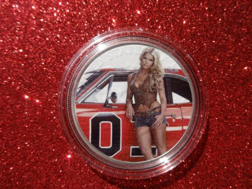 """2020 Silver Eagle Colorized /""""Jessica Simpson and the General Lee /""""Limited to 20"""