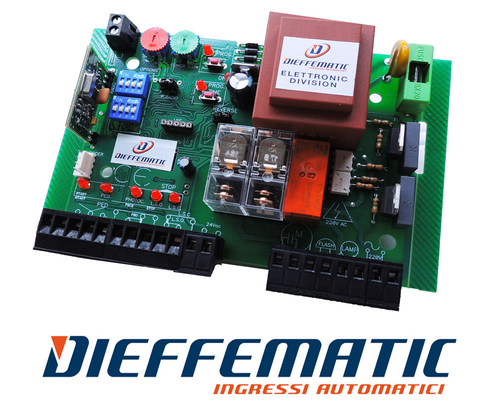 UNIVERSAL CONTROL BOARD FOR ROLLING SHUTTER ELECTRIC CAR PARK BARRIERS 230Vac df