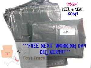 50 X 17 X24 grandes Gris Postal embalaje Ropa Zapatos de correo Bolsas ** libre envío! **