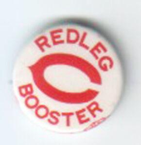"1940s--CINCINNATI REDS--""REDLEG BOOSTER"" PIN--NMT"