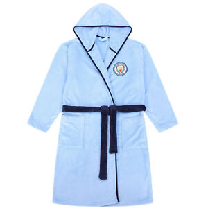 06ca38d216 Manchester City FC Official Gift Mens Hooded Fleece Dressing Gown ...