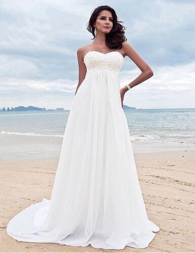 Simple Maternity Beach Wedding Dress for Pregnant Women Cheap High Waist