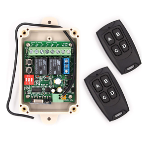 Details about Solidremote Secure Wireless RF Remote Control Relay Switch  Universal 2-Channel