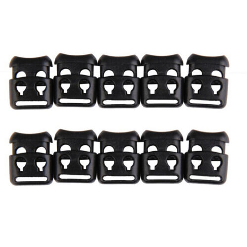 10 JECS Shoelace Buckle Non-slip Survival Stopper Rope Clip Clamp Cord Lock NIUS