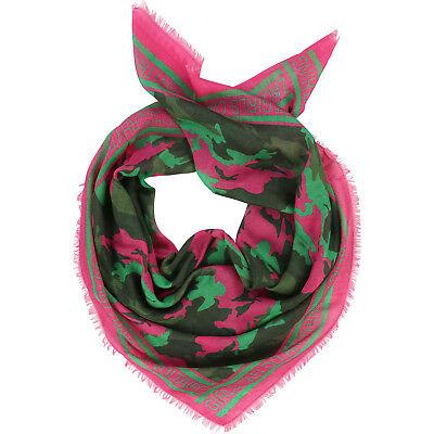 Aggressiv Zadig & Voltaire Kids Tuch Schal Scarf Camouflage Text Pink Khaki 90 X 90cm Kaufe Eins, Bekomme Eins Gratis