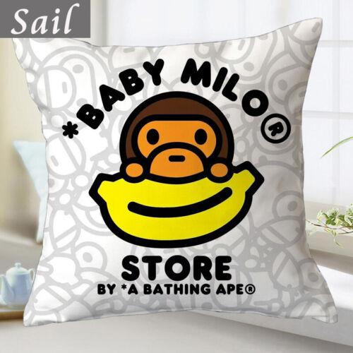 BAPE A Bathing Ape Monkey Head Throw Pillow Camo Waist Cushion Sofa Bedding Case