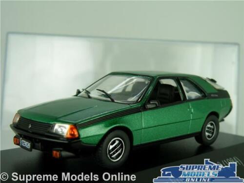 DISPLAY CASE K8 RENAULT FUEGO GTX MODEL CAR 1984 GREEN 1:43 SCALE IXO