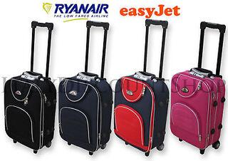 Trolley ORMI Bagaglio a Mano Valigia 55x40x20 cm In Poliestere Ryanair EasyJet