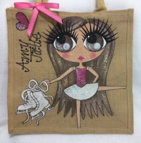 Bag Hand Girl Handpainted Skating Handbag Ice Personalised Gift Dancer Skater qd8470W8nv