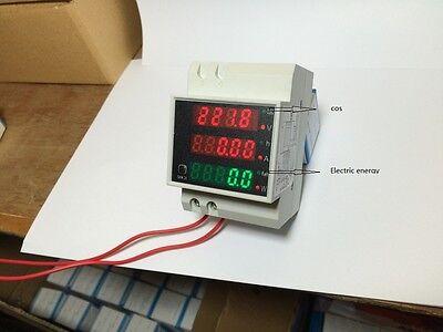 Digital AC80-300V 0-100A  LED DIN-Rail Multi-Function Digital VOLT/AMP Meter