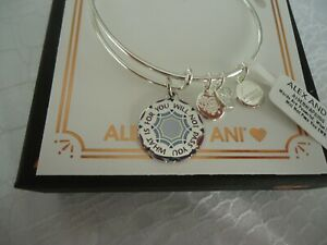 16cb786122929 Details about Alex and Ani WHAT IS FOR YOU WILL NOT PASS YOU Silver Bangle  New W/Tag Card Box