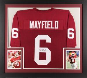 super popular d522b 21495 Details about Sooners Baker Mayfield Framed Jersey