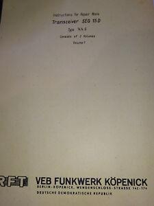 SEG-15D-englische-Reparaturanleitung-Repair-Work-RFT-Funkwerk-Koepenick