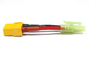 Adapter Ladekabel Mini Tamiya Stecker auf XT90 Buchse Female Lipo Akku Kabel RC