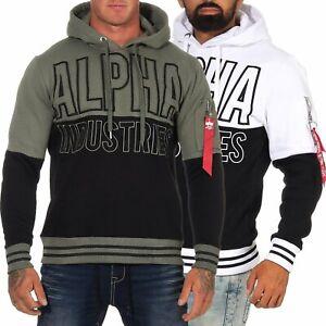 Alpha-Industries-Uomo-Hoodie-Hoody-con-cappuccio-Pullover-Pullover-Felpa-198353