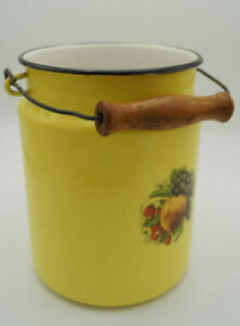 Vintage-Email-Milk-Jug-Bucket-Decor-Enamel-Retro-Fruit-Utensilo-50er-10