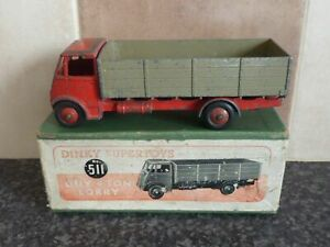 VINTAGE-DINKY-SUPER-TOYS-No-511-GUY-4-TON-LORRY-RED-FAWN-IN-ORIGINAL-BOX