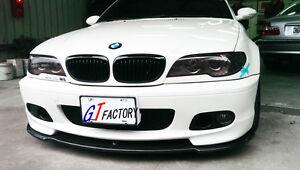 Details About New For Bmw E46 M Tech M Sport Front Bumper Use Carbon Front Lip Spoiler