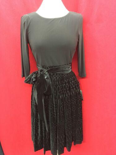 Pantalone Papell retail velluto Size12 length39 Adrianna Abito Spalla tTqwvv