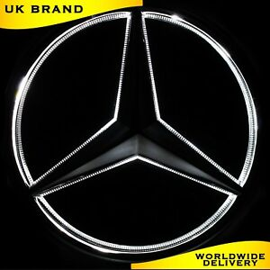 Emblema-de-Mercedes-Benz-2005-2013-Led-Luz-Blanca-Delantera-Parrilla-coche-insignia-con-logotipo-de
