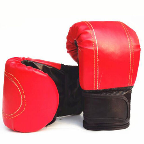 1Pair Adult Boxing Gloves Grappling Punching Bag Training Martial Arts SparPLBE