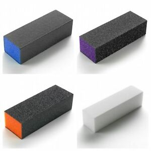 THE-EDGE-Nail-Sanding-Square-Block-039-s-x-10-Various-Grit-Size-OFFICIAL-STOCKIST
