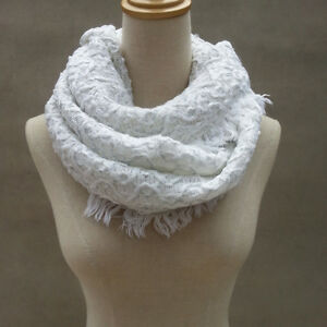 Women Knit Scarf Warm Soft Winter Neck Circle Wool Cowl