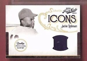 JACKIE-ROBINSON-GAME-USED-JERSEY-CARD-d2-25-2011-PRIME-CUTS-BROOKLYN-DODGERS