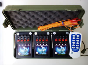 New-12Cues-Profession-Fireworks-Firing-System-Wireless-Remote-For-Party-Wedding