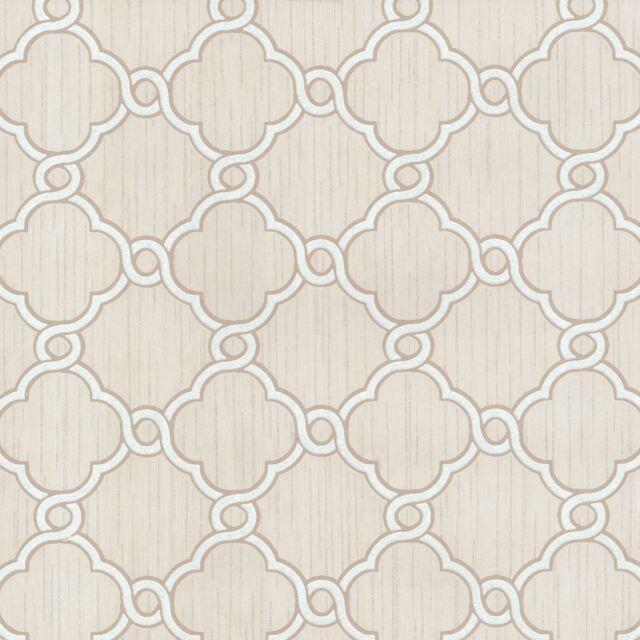OPAL GEOMETRIC GLITTER WALLPAPER BEIGE / WHITE - P+S 02493-60
