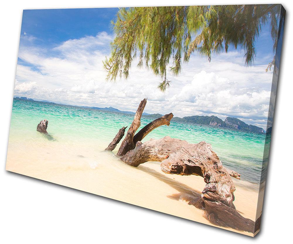 Sunset Seascape  Thailand  SINGLE TOILE murale ART Photo Print