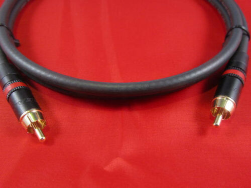 4/' Belden 1694A S//PDIF 75 Ohm Cable Neutrik Gold RCA w// Red Ring.
