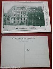 "CARTOLINA BOLOGNA - HOTEL PENSIONE ""FELSINA"" CAMERE ACQUA CORRENTE CALDA"