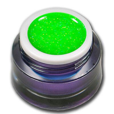 Premium Neon Glitter Glitzer Grün Magic Farbgel Colorgel Nails UV Gel #00594-07