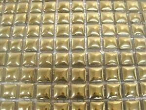 81 mosaic tiles 10 x10 x 4mm tessera. ceramic glazed..gold ebay