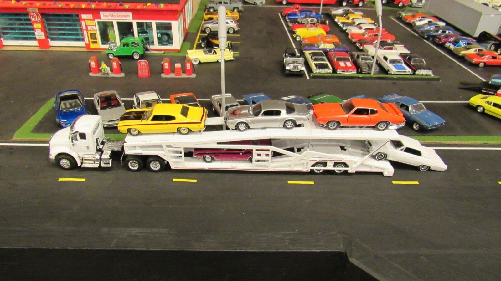 SPECCAST WHITE WHITE WHITE IH 8600 SEMI CAR TRANSPORT TRANSPORTER CARRIER TRAILER 1 64  MTB 18c850