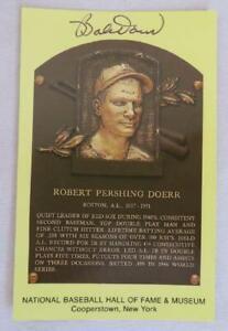 Original Authentic BOBBY DOER Signed Autograph HOF Plaque Postcard Baseball