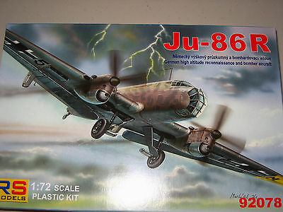 1/72 Scale RS Models Junkers Ju-86 R High Altitude Bomber