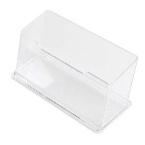 Neue freie Desktop-Visitenkartenhalter Staender Acryl Kunststoff B2K3