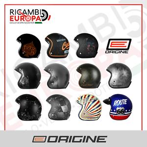 Casco-Jet-Origine-Primo-Grafica-a-Scelta-3-Bottoni-vintage-retro-custom