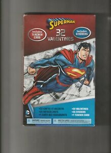SUPERMAN-VALENTIE-039-S-DAY-32-CARDS-35-STICKERS-SO-COOL-SEALED-BOX