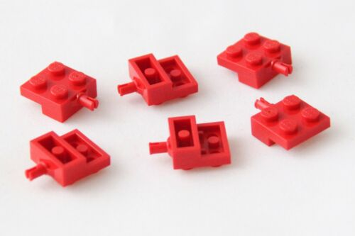 LEGO Plate 2x2 with Wheel Holder Genuine Lego Part 4488 Brand New RED 6 PIECES