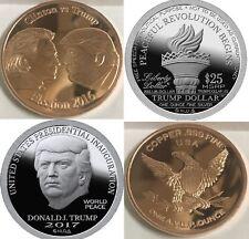 2017 Trump Inauguration Dollar 1oz .999 Pure Silver And 1oz Copper Election 2016