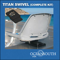 Boat Seat Swivel Removable, For Aluminum Benches On Jon Boats (complete Kit)