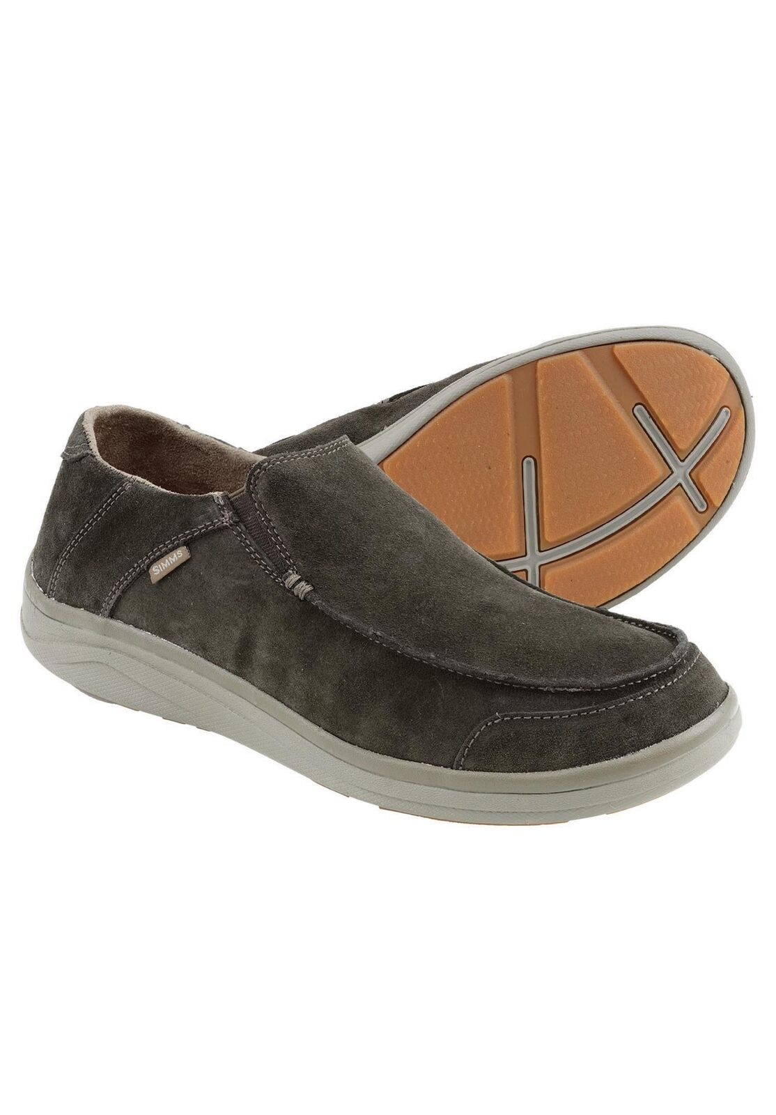 Simms Westshore   Leather Slip On shoes Dark Olive - Size 10.5 -CLOSEOUT  cheap