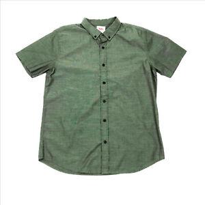 EUC-Levis-Olive-Green-Junior-Mens-Short-Sleeve-Shirt-Large