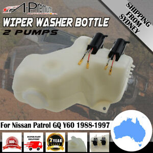 Wiper-Washer-Bottle-w-2-Pumps-for-Nissan-Patrol-GQ-Y60-Ford-Maverick-1988-1997