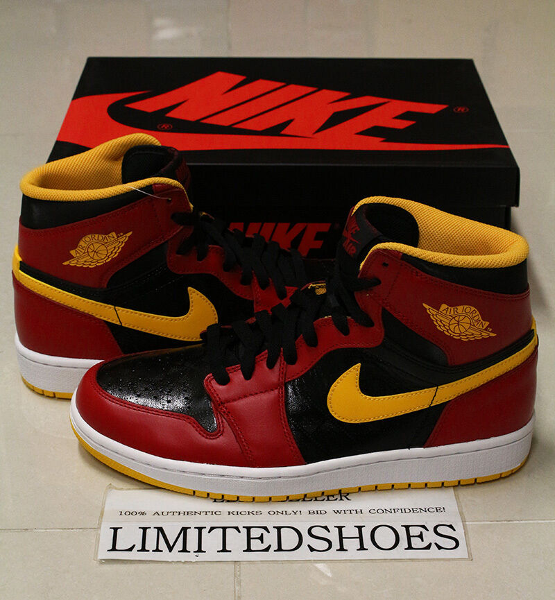 NIKE AIR JORDAN 1 RETRO HIGH OG HIGHLIGHT REEL 555088-017 ATLANTA HAWKS bred i