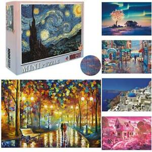 Puzzle Adult 1000 Piece Wooden Jigsaw Decompression Home Game Toy Gift Kids UK